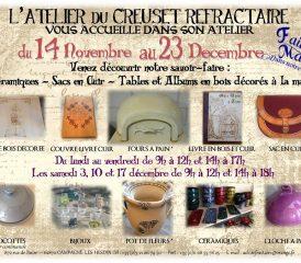 ANIMATIONS DE NOEL A L'ATELIER DU CREUSET REFRACTAIRE